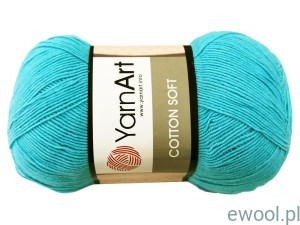 Włóczka Cotton Soft YarnArt 33 kolor turkusowy