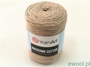 Sznurek  Macrame Cotton YarnArt 3mm 768  kolor beżowy