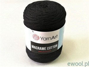 Sznurek Macrame Cotton  3mm 750  kolor czarny