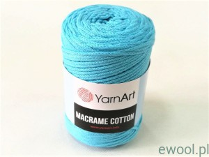 Sznurek  Macrame Cotton  763  kolor turkusowy