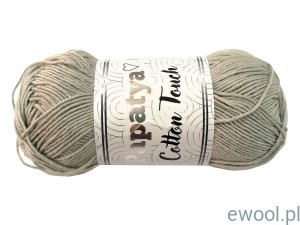 Włóczka  Papatya Cotton Touch 1130 50g  kolor szary
