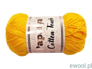 Włóczka  Papatya Cotton Touch 0880 50g  kolor żółty