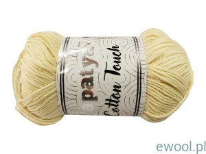 Włóczka  Papatya Cotton Touch 0050 50g  kolor kremowy